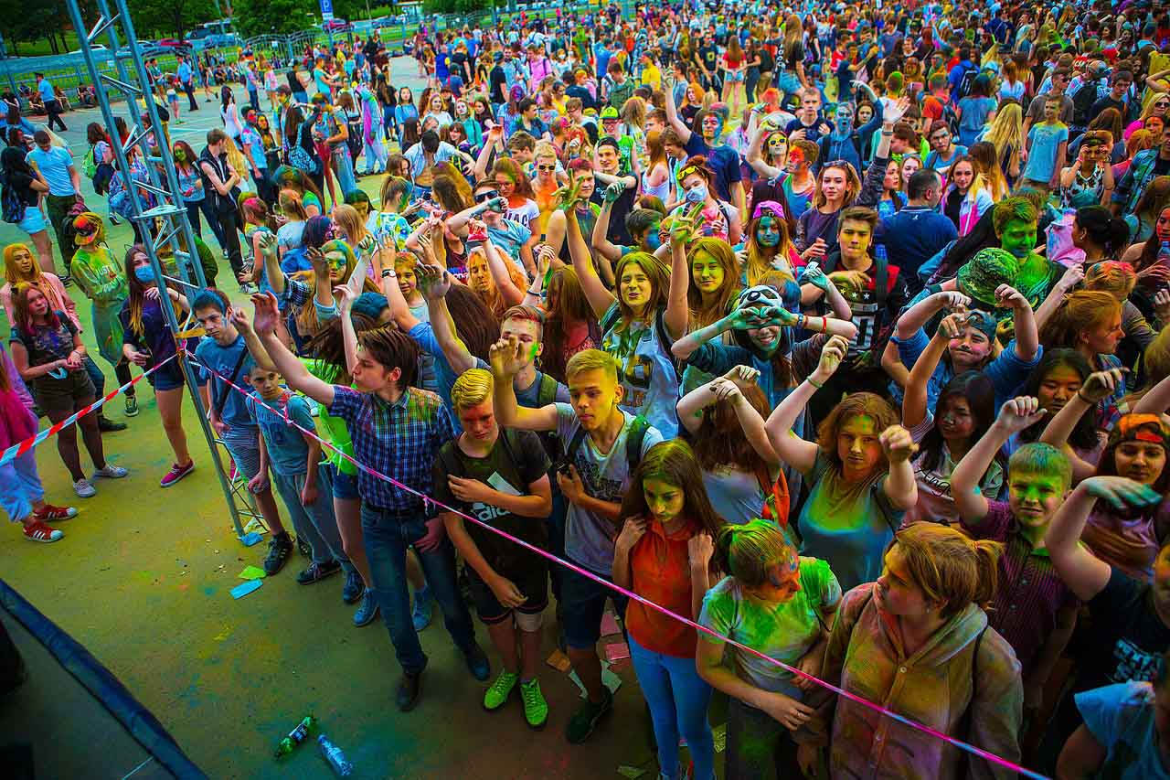 Фестиваль красок. Обсыпать и обсыпаться