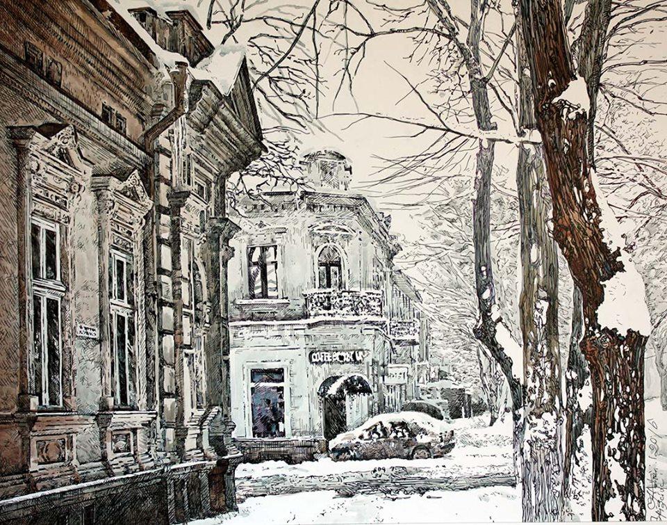 Старый Кишинев. Зима.