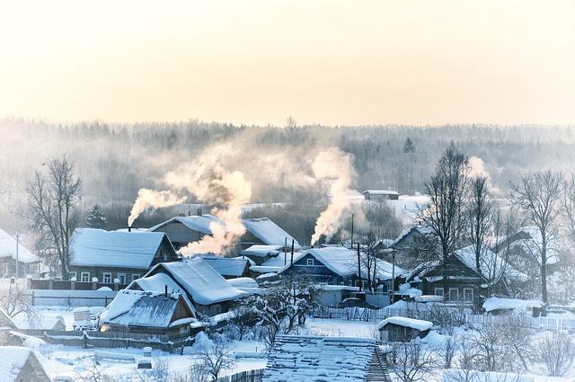 Зимний посёлок