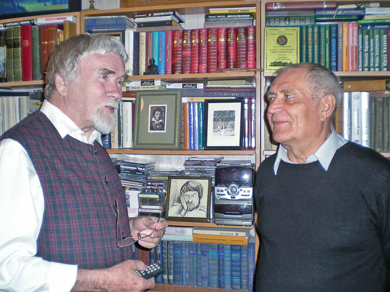 Валентин Курбатов (слева) и Владимир Тыцких.