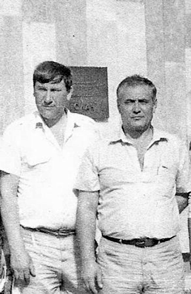 Дом творчества писателей Белоруссии Ислочь - 1997 В. Тыцких и (слева) В. Силкин